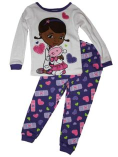 New Nwt Girls Size 2t Doc Mcstuffins Snug Fit 2 Piece Sleepwear Pjs Pajamas And To Have A Long Life. Girls' Clothing (newborn-5t) Sleepwear