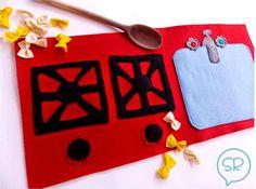 Come fare una cucina giocattolo in feltro - Tutorial.