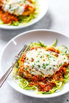 20 Minute Healthy Chicken Parmesan recipe ♡