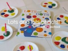 and lots of dots Book, Lots and Lots of Dots by Craig Frazier (should tie this into a pointillism lesson!)Book, Lots and Lots of Dots by Craig Frazier (should tie this into a pointillism lesson! Preschool Colors, Preschool Literacy, Kindergarten Art, Preschool Activities, Teach Preschool, Preschool Art Lessons, Preschool Shapes, Early Literacy, Educational Activities
