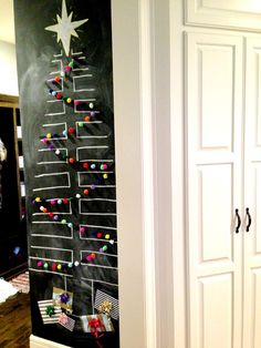 life.love.larson: Chalkboard Tree with Pom Garland