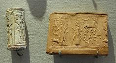 As part of our   recent study of Mesopotamia, we made our own clay cylinder seals. These ancient  signatures were cylinder-shaped stamps that bore the marks of an individual and were   pressed into the freshly made bricks of houses and temples. Once dry and hardened, we   rolled our seals onto soft clay so the images carved in the seal appeared in relief