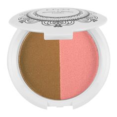 """Nyx bronzer and blush combo. I use """"Sunrise in Bali"""". Perfect way to get that summertime glow."""