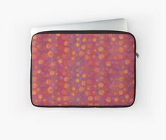 """""""Candy field, pink & orange"""" Laptop Sleeves by clipsocallipso   Redbubble"""