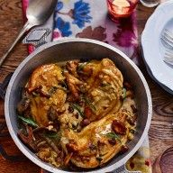 Chicken-supremes-with-wild-mushroom-and-tarragon-sauce