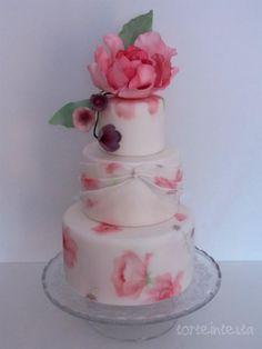 rose peony cake - Cake by Torteintesta di Silvia Riboldi