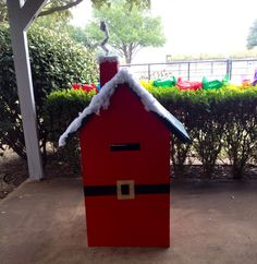 Santa's Mail Box at Southfork Ranch come write a letter to Santa Claus;)