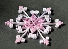 Handmade Quilled Snowflake Christmas Ornament by ScatteredPetals, $5.00