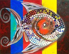 World-renowned Artist, J. Two Fish, Fish Art, Marine Life, Original Art, Paintings, Artists, Inspired, Funny, Pisces