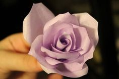 Coffee Filter Flower  Pic heavy tutorial with tips :  wedding bouquet ceremony coffee filter flowers diy flowers paper flowers pew decorations purple white 4 Assembling Flowers 13 Attach And Tape Single Petals In Sets Of 3 4 Then 3 3