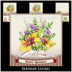 Watercolor Flower Bouquet 992 : The Designer Twins ...where creativity encounters quality and value