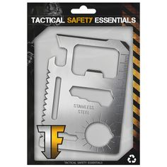 [ Tactical Safety Essentials ] 1PC Silver 11 in 1 Multitool Card Multi Purpose Survival Pocket Tool Credit Wallet. STAINLESS STEEL - Stainless steel multitool card, featuring 11 tools all in 1 card, including Beer card bottle opener. GREAT - Great for camping hunting survival kits and activitys, Durable for any situation, including military. WALLET SIZE - This wallet sized credit card knife and multitool is the perfect mini survival tool for camping, hiking, backpacking, hunting, trail...