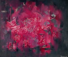 Norman Lewis — Red Abstraction (Untitled), 1973 | Abstract Expressionist Painting | Art of Darkness | Norman Lewis — Untitled, 1973  // 1970s /  Abstract Expressionism /  Norman Lewis /    // via artofdarkness.co