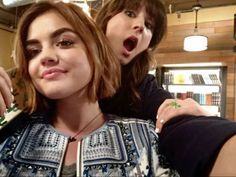 Lucy and Troian Pretty Little Liars Aria, Pll Cast, Movies And Series, Tv Series, Spencer Hastings, Youre Mine, Lucy Hale, Modern Family, Best Shows Ever
