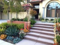 Private Residence - Large Scale Narrow Modular Pavers were used to create beautiful entry steps.