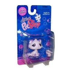 Littlest Pet Shop Littlest Figure Pink & Purple Cat $9.93