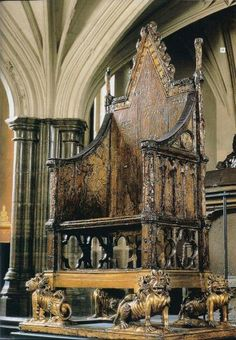 The Crowning Chair in West minster Abbey, London