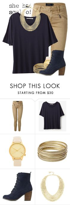 """""""Gold is my middle name"""" by newyearscutie ❤ liked on Polyvore featuring Polo Ralph Lauren, Acne Studios, Komono, Steve Madden, Charlotte Russe and BCBGMAXAZRIA"""