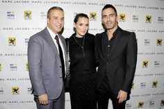 Jesus Aguais, Winona Ryder and Marc Jacobs at the Aid for AIDS My Hero Gala.