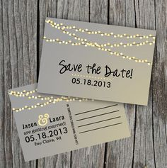 If we don't do our engagement photos in time. Love how simple this save the date card is. With our colors though. - Bonnie