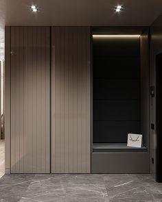 Warm flat on Behance Shoe Cabinet Entryway, Shoe Cabinet Design, Cupboard Design, Wardrobe Door Designs, Wardrobe Design Bedroom, Hallway Furniture, Home Decor Furniture, Home Room Design, House Design