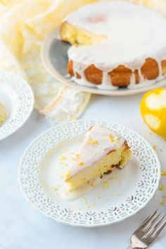 This is a gorgeous from scratch cake with a burst of lemon! Norwegian Sunshine Cake (Solskinnskake)
