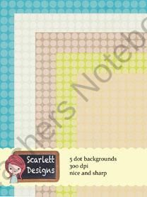 Great multicolored Dots digital papers from Scarlett Design on TeachersNotebook.com (5 pages)