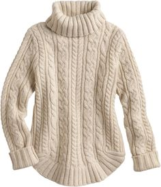 The women's Fisherman Turtleneck Sweater looks like a classic. But - wowza! - with a smidge of cashmere mixed in wait'll you feel it.