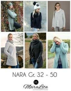 Nara is a great all-rounder for every day. Simply thrown over, you are dressed equally well! Nara ca Nara, Fabric Patterns, Sewing Patterns, Sweater Coats, Sweaters, Tutorial, Get Dressed, Diy Clothes, Work Wear