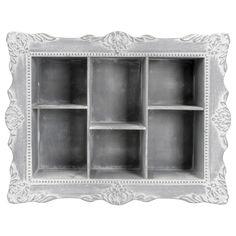 EUR 9,95 - wand letterbak barok 53x41x8.5cm wit/gr Eames, China Cabinet, Bathroom Medicine Cabinet, Decoration, Bookcase, Shelves, Storage, Inspiration, Furniture