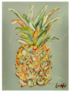 Brooke Eagle Original Pineapple Painting #1