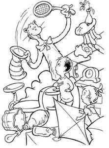 Cat In The Hat Coloring Book Pages