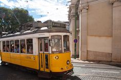 Lisbon on a budget - via Backpackme 10.01.2015 | Lisbon does seem to have it all: pleasant weather, great food, lots to see and do. And you CAN enjoy it all, even on a tight budget! | Photo: A typical tram in Lisbon