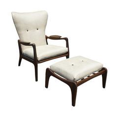 I'm not a fan of the way these were reupholstered...but the chairs are gorgeous.  Love Adrian Pearsall!