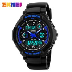 2016 Men Quartz Digital Watch Men Sports Watches Relogio Masculino SKMEI S Shock Relojes LED Military Waterproof Wristwatches Like and share this pure awesomeness!  #shop #beauty #Woman's fashion #Products #Watch