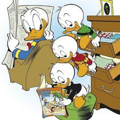 Samen lezen is veel gezelliger dan in je eentje. Met wie lees jij mijn weekblad of Donald Duck Junior 't liefst? #samenlezen #donaldduckjunior #gezellig