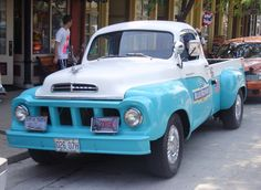 Ah, a Studebaker pickup, a true piece of Americana.