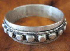 Antigua pulsera de plata pura tribu bereber por TuaregJewelry