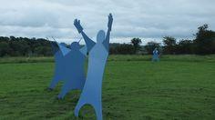 Yorkshire Lavender Cricket Sculpture.
