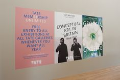 Posters with the new Tate logo