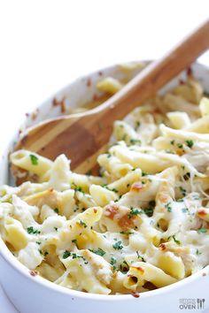 Penne au poulet sauce Alfredo - Recettes - Recettes simples et géniales! - Ma Fourchette - Délicieuses recettes de cuisine, astuces culinaires et plus encore!