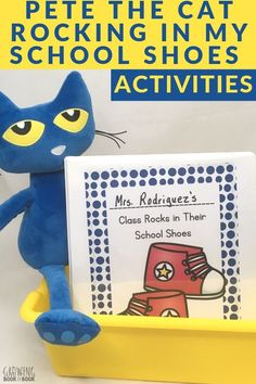 Pete the Cat Rocking in My School Shoes Activities- Create a collaborative class book after enjoying the story plus more book activities. Kindergarten Literacy Stations, Preschool Learning Activities, Preschool Books, Activities For Kids, Preschool Kindergarten, September Preschool, Sequencing Activities, Preschool Printables, Kindergarten Reading