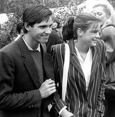 Stephanie with Paul Belmondo