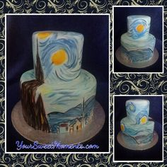 Stay Night Hand painted Cake