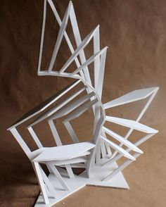 Foam board staircase sculpture from my Design Foundations course at RISD Pre-College. #risdprecollege2016 @risd_precollege /risdce/