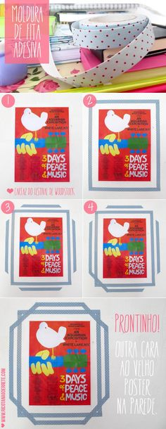 GIRLS ROOM: For posters: washi tape frames