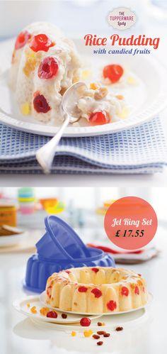 Tupperware jel ring set & rice pudding recipe