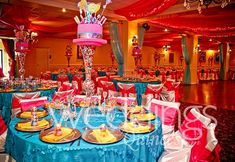 Beautiful candy land theme quinceanera!! #candy #candyland #lollopop #centerpiece For more details and pictures check us out on: http://www.ldoweddings.com/candyland-quince/nggallery/page/1/