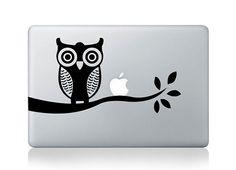 owl mac decal mac book pro decal mac sticker by oliviabeauty, $7.99