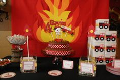 """Photo 1 of 22: Firetruck, Fire Engine / Birthday """"Gavin's Firetruck Party""""   Catch My Party"""